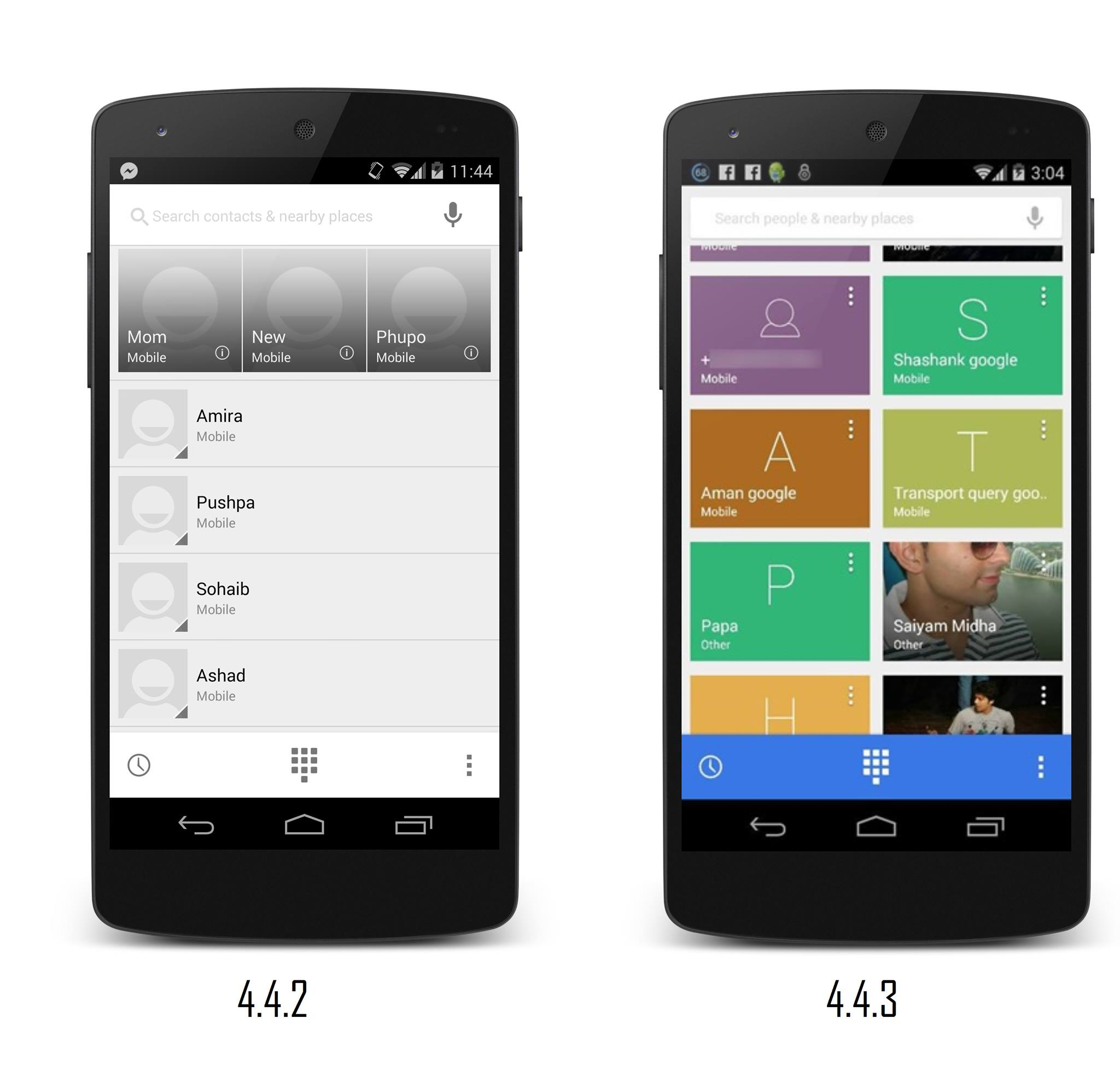 Roll out for other Nexus devices is expected to start in couple of days with Google Play Editions soon to follow.