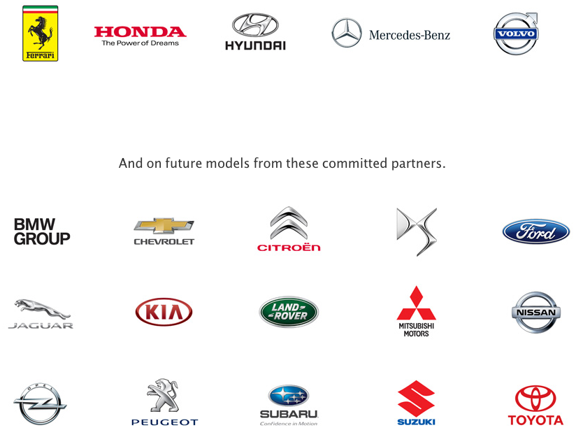 Car Manufacturers that would be using CarPlay