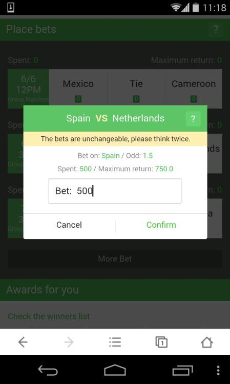 Place your bet through UC Browser