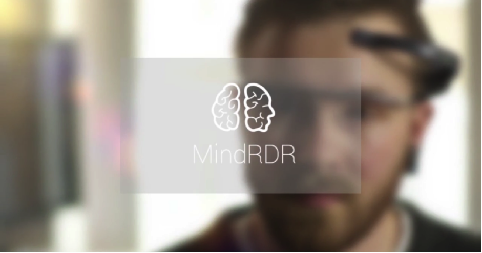 """MindRDR""  lets the Google glass connect with another piece of headset that consists of a sensor."