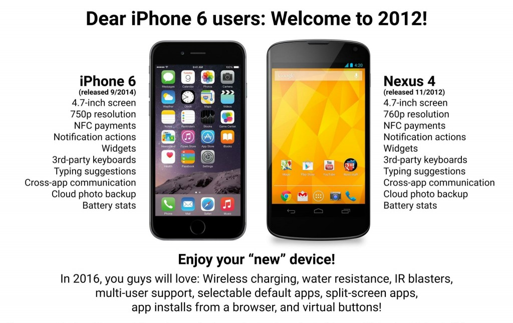 Android community mocks the iPhone