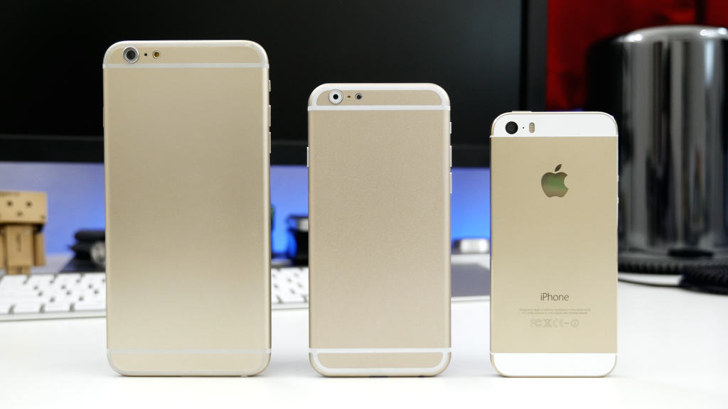 The new iphones are substantially bigger than the 5S