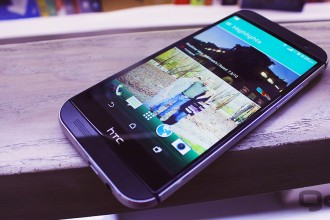 HTC's proprietary blink feed service is handy for quick social updates.